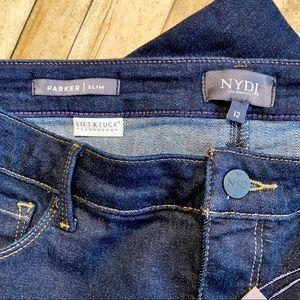 NYDJ Jeans - NYDJ Parker Slim Fit Ankle Jeans Dark Wash 12